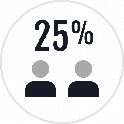 data, percent, twentyfive icon