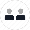info, man, two, users icon