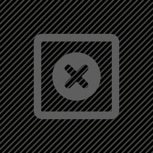 account, cancel, close, delete icon
