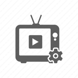 channel, multimedia, options, player, setting, tv icon