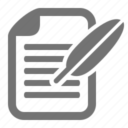 communication, document, feather, file, letter, message, write icon