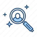 explore, find, find friend, magnifier, search icon