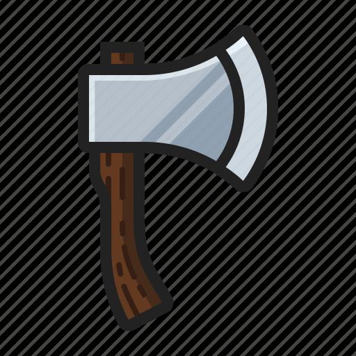 axe, chop, hatchet, lumber, wood icon