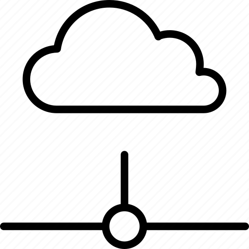 cloud, computing, connected, network, online, server icon
