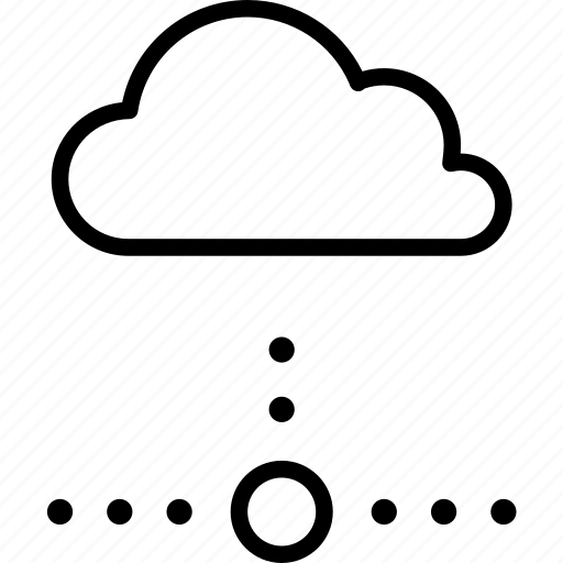 cloud, computing, disconnected, network, offline, server icon