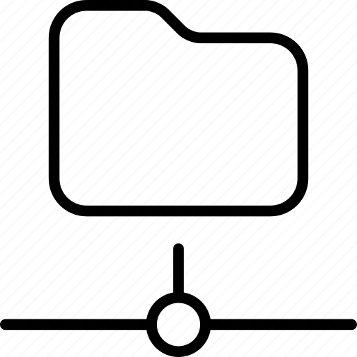 connected, data, folder, internet, network, online icon