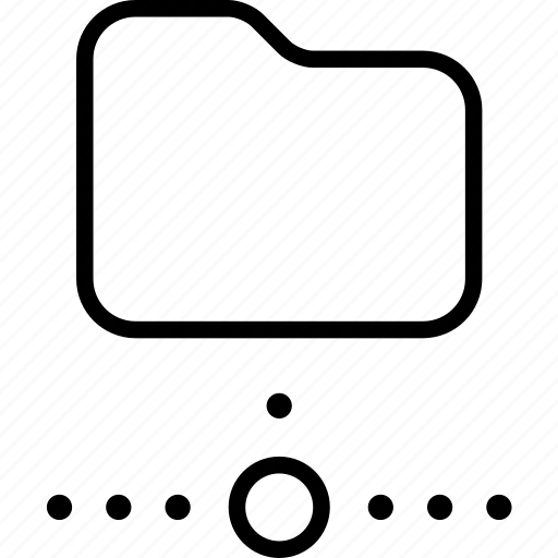 data, disconnected, folder, internet, network, offline icon