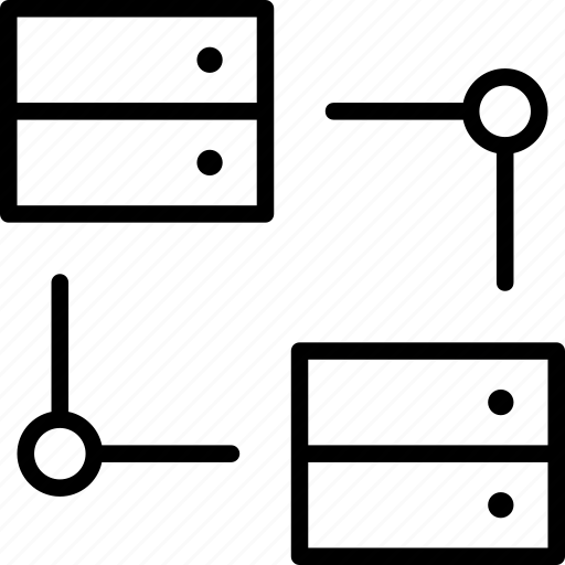 centers, connection, data, online, proxy, servers icon