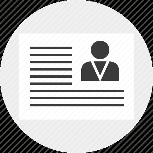 business, ceo, description, money, person, report, staff icon