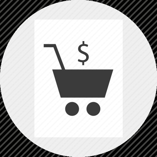 cart, commerce, dollar, e, shop, shopping icon