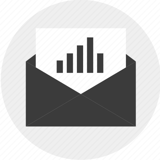 data, email, envelope, results icon