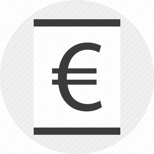euro, money, online, page, sign icon