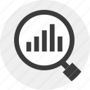 data, find, for, look, magnigier, resutls icon