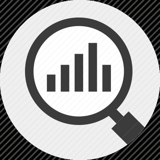 data, find, for, look, magnigier, resutls icon