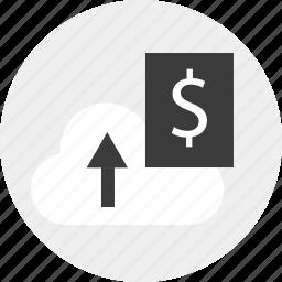 banking, dollar, money, online, save, sign icon