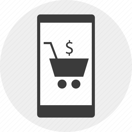 cart, commerce, e, mobile, money, online icon