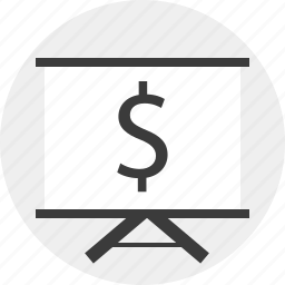 board, dollar, money, sign icon