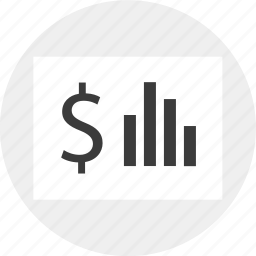 business, dollar, money, report, results, sign icon