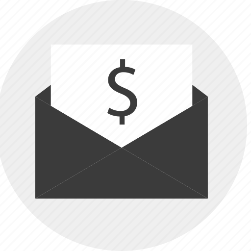 dollar, email, mail, money, sign icon