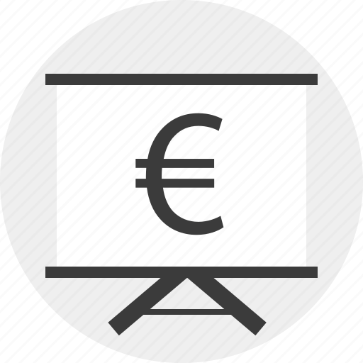 board, euro, money, sign icon