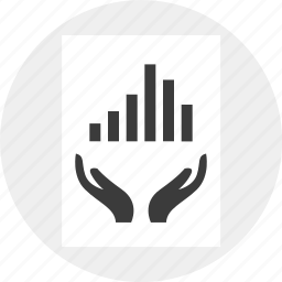data, growing, hands, money, results, together icon