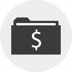 dollar, folder, guardar, money, results, save, sign icon