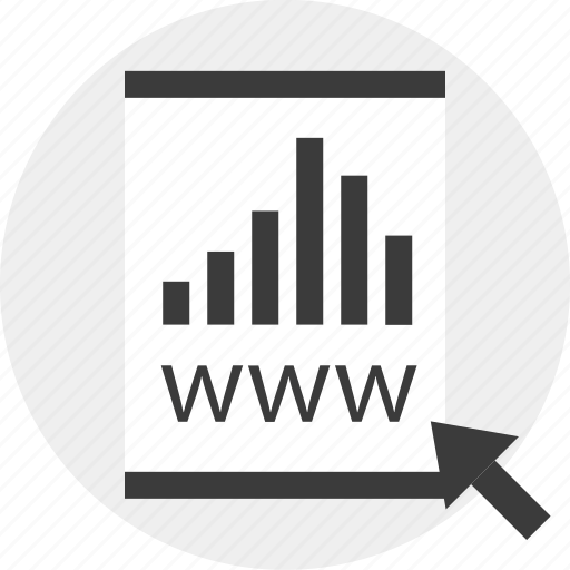 arrow, business, report, results, www icon