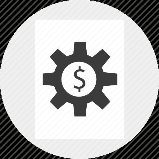 contract, freelance, gear, job, money, working icon