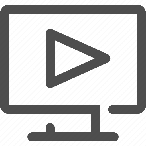 arrow, interface, movie, multimedia, music player, play button, video player icon