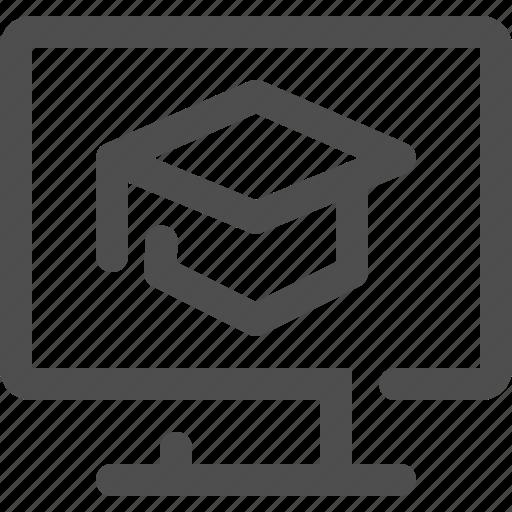 career, computer, correspondence school, education, graduate, school, technology icon