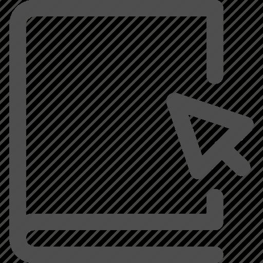 cursor, ebook, education, interface, library, reading, study icon