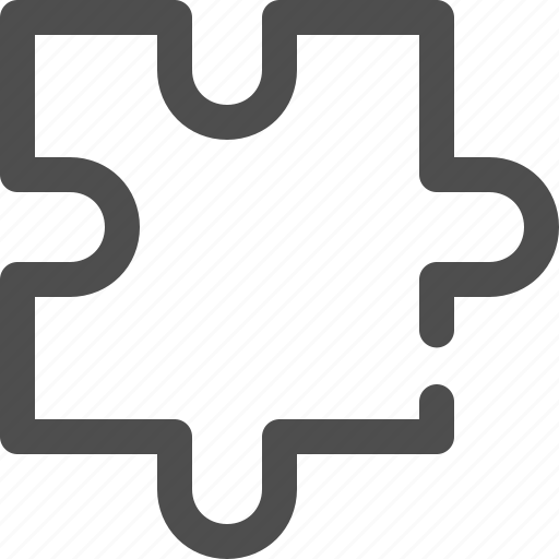 game, piece, puzzle, question, shape, test, toy icon