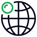 connect, globe, online, world, world wide icon