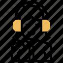avatar, callcentre, girl, listening, woman icon