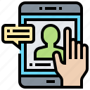 click, consult, smartphone, technology icon