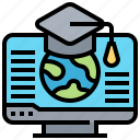 computer, course, education, knowledge, learning icon