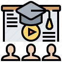 computer, course, education, learning, webinar icon