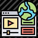 content, movie, video, website, worldwide