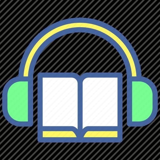 audio, book, headphone, sound, voice icon