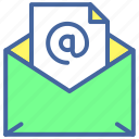 document, email, intenet, message, technology icon