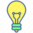 bulb, idea, innovation, lamp, light icon
