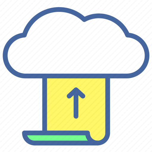 cloud, computer, data, internet, storage, to, upload icon