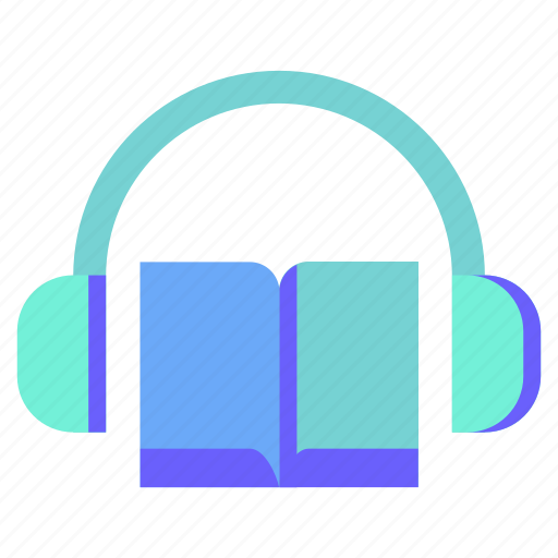 audio, book, headphone, sound, voice icon
