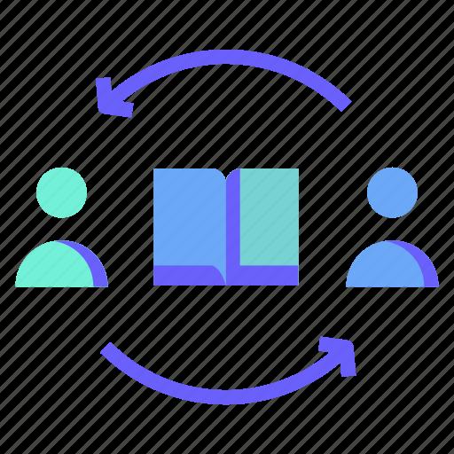 arrow, book, feedback, peope, user icon