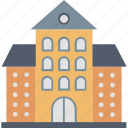 building, campus, college, education, institution, learning, university icon
