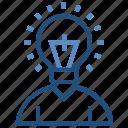 bulb, creative, education, idea, learn, student icon