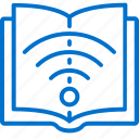 education, internet, learning, online, remote, signal, teaching icon
