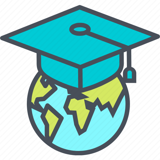 bachelor, cap, education, graduation, teaching icon