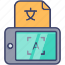 application, mobile, translate, language, translation, ocr, translator icon