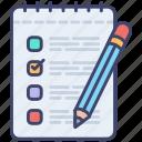 document, examination, investigation, testing, clipboard, checklist, test